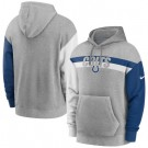 Men's Indianapolis Colts Gray Heathered Heritage Tri Blend Pullover Hoodie