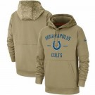 Men's Indianapolis Colts Tan 2019 Salute to Service Sideline Therma Printed Pullover Hoodie