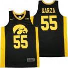 Men's Iowa Hawkeyes #55 Luka Garza Black College Basketball Jersey