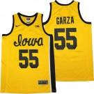 Men's Iowa Hawkeyes #55 Luka Garza Yellow College Basketball Jersey