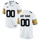 Men's Iowa Hawkeyes Customized White College Football Jersey
