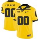 Men's Iowa Hawkeyes Customized Yellow Rush College Football Jersey