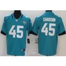 Men's Jacksonville Jaguars #45 K'Lavon Chaisson Limited Green Vapor Untouchable Jersey