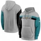 Men's Jacksonville Jaguars Gray Heathered Heritage Tri Blend Pullover Hoodie