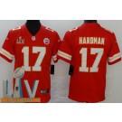 Men's Kansas City Chiefs #17 Mecole Hardman Limited Red 2021 Super Bowl LV Bound Vapor Untouchable Jersey