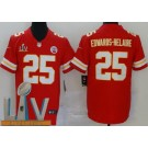 Men's Kansas City Chiefs #25 Clyde Edwards Helaire Limited Red 2021 Super Bowl LV Bound Vapor Untouchable Jersey