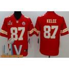 Men's Kansas City Chiefs #87 Travis Kelce Limited Red 2021 Super Bowl LV Bound Vapor Untouchable Jersey