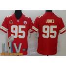 Men's Kansas City Chiefs #95 Chris Jones Limited Red 2021 Super Bowl LV Bound Vapor Untouchable Jersey