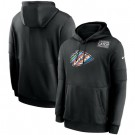 Men's Kansas City Chiefs Black Crucial Catch Sideline Performance Pullover Hoodie