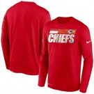 Men's Kansas City Chiefs Red Sideline Impact Legend Performance Long Sleeves T Shirt 621