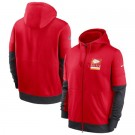 Men's Kansas City Chiefs Red Sideline Impact Lockup Performance Full Zip Pullover Hoodie