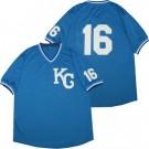 Men's Kansas City Royals #16 Bo Jackson Blue Mesh Throwback Jersey
