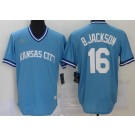 Men's Kansas City Royals #16 Bo Jackson Light Blue 2020 Cooperstown Collection Jersey