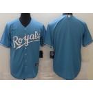 Men's Kansas City Royals Blank Light Blue Cool Base Jersey
