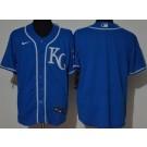 Men's Kansas City Royals Blank Royal Blue 2020 Cool Base Jersey