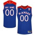 Men's Kansas Jayhawks Customized Blue College Basketball Jersey