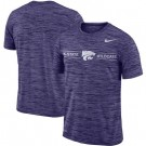 Men's Kansas State Wildcats Purple Velocity Sideline Legend Performance T Shirt 201054