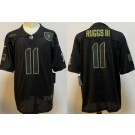 Men's Las Vegas Raiders #11 Henry Ruggs III Limited Black 2020 Salute To Service Jersey