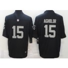 Men's Las Vegas Raiders #15 Nelson Agholor Limited Black Vapor Untouchable Jersey