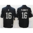 Men's Las Vegas Raiders #16 Jim Plunkett Limited Black Vapor Untouchable Jersey