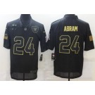 Men's Las Vegas Raiders #24 Johnathan Abram Limited Black 2020 Salute To Service Jersey