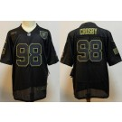 Men's Las Vegas Raiders #98 Maxx Crosby Limited Black 2020 Salute To Service Jersey