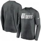 Men's Las Vegas Raiders Gray Sideline Impact Legend Performance Long Sleeves T Shirt 611