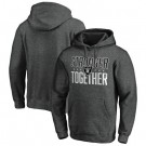 Men's Las Vegas Raiders Heather Charcoal Stronger Together Printed Pullover Hoodie 0738