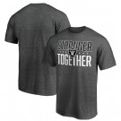 Men's Las Vegas Raiders Heather Charcoal Stronger Together Printed T-Shirt 0943