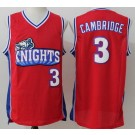 Men's Like Mike LA Knight #3 Calvin Cambridge Red Basketball Jersey