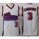 Men's Like Mike LA Knight #3 Calvin Cambridge White Basketball Jersey