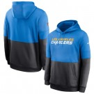 Men's Los Angeles Chargers Blue Navy Sideline Impact Lockup Performance Pullover Hoodie