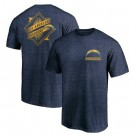 Men's Los Angeles Chargers Iconic Retro Diamond Scroll Printed T-Shirt 0931