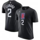 Men's Los Angeles Clippers #2 Kawhi Leonard Black Printed T Shirt 211062