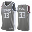 Men's Los Angeles Clippers #33 Nicolas Batum Gray 2021 Earned Icon Hot Press Jersey