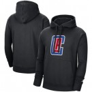 Men's Los Angeles Clippers Black Statement Edition Fleece Pullover Hoodie