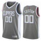 Men's Los Angeles Clippers Custom Gray 2021 Earned Icon Hot Press Jersey