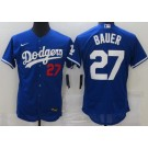 Men's Los Angeles Dodgers #27 Trevor Bauer Blue FlexBase Jersey