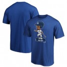 Men's Los Angeles Dodgers #50 Mookie Betts Blue 2020 World Series Champions T Shirt 1076