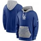 Men's Los Angeles Dodgers Blue Heritage Tri Blend Pullover Hoodie