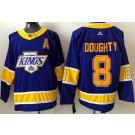 Men's Los Angeles Kings #8 Drew Doughty Purple 2021 Reverse Retro Authentic Jersey