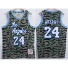 Men's Los Angeles Lakers #24 Kobe Bryant Camo 1996 Throwback Swingman Jersey
