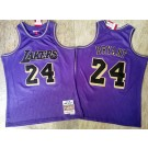 Men's Los Angeles Lakers #24 Kobe Bryant Purple 2007 Hardwood Classics Authentic Jersey