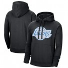 Men's Los Angeles Lakers Black 2021 City Edition Essential Logo Fleece Pullover Hoodie
