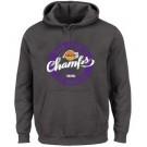 Men's Los Angeles Lakers Gray 2020 Champions Printed Pullover Hoodie 201091