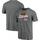 Men's Los Angeles Lakers Gray 2020 Champions Printed T Shirt 201080