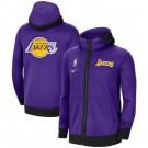 Men's Los Angeles Lakers Purle Showtime Performance Full Zip Hoodie Jacket