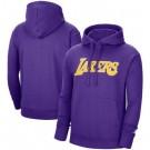 Men's Los Angeles Lakers Purple 2021 Fleece Pullover Hoodie