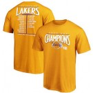 Men's Los Angeles Lakers Yellow 2020 Champions Printed T Shirt 201087