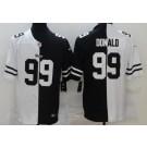 Men's Los Angeles Rams #99 Aaron Donald Limited Black White Split Jersey